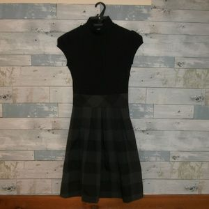 Iz Byer California Black and Plaid Dress - A11